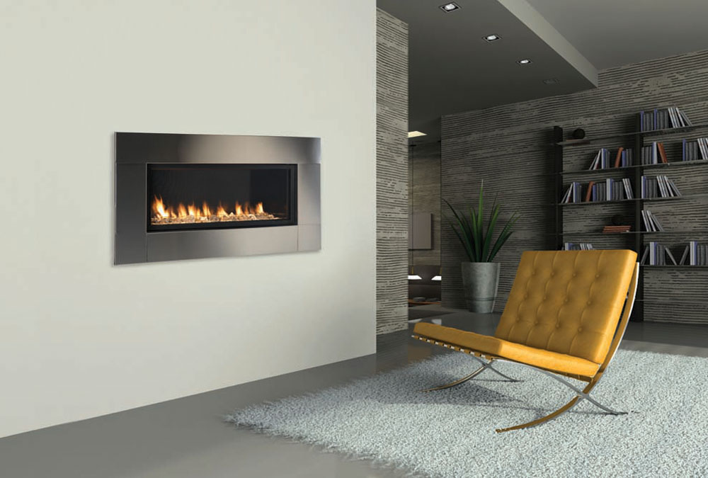 Now you can have the sleek look of a contemporary fireplace just about anywhere with the Artisan vent free fireplace.