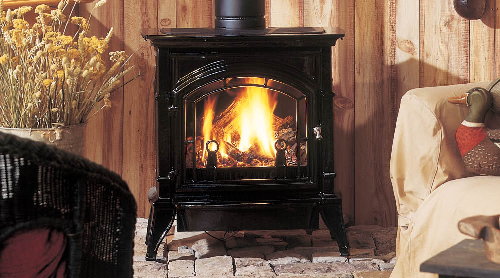 Traditional cast iron construction gives the Concorde stove a timeless look. And with direct vent gas technology