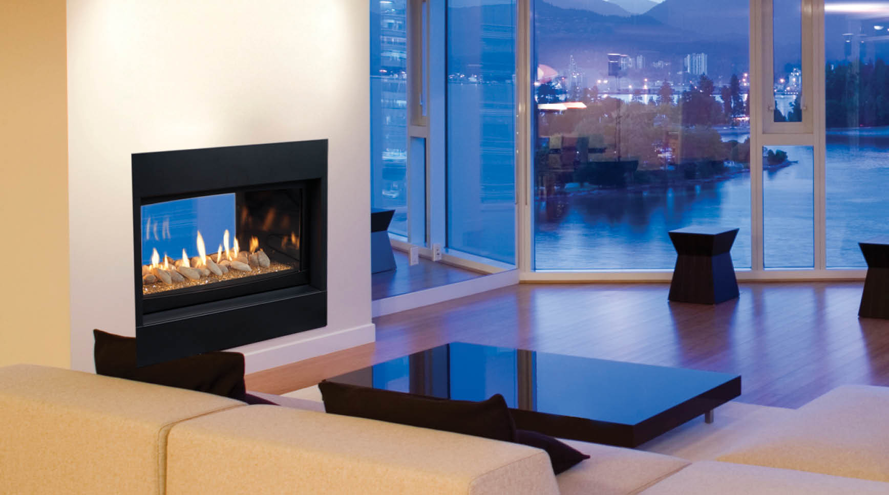 fire fascia black log regency with fireplaces fireplace in c gas wall greenfire products shown