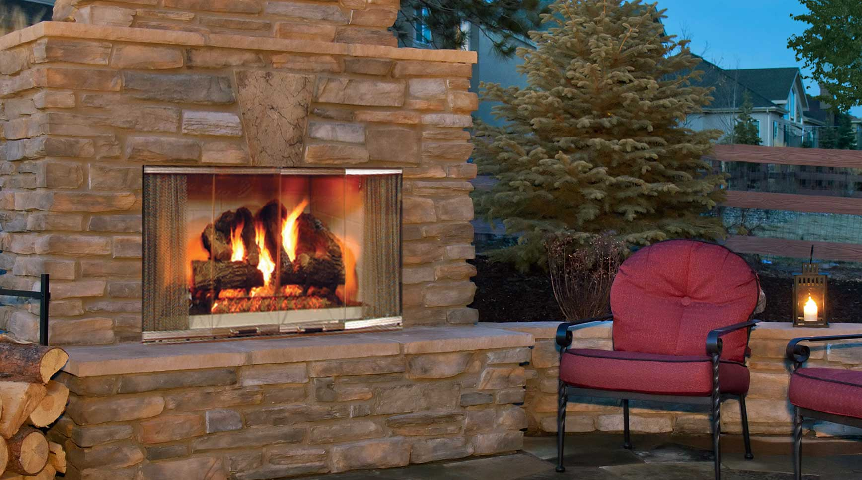 montana wood burning fireplace